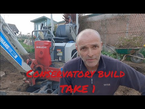 Building a conservatory from start to finish #building #groundwork
