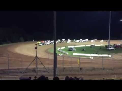 Sprint car Flip Lernerville WoO 9-24-16