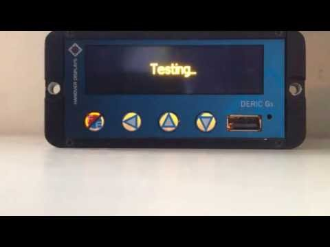 Hanover Displays DG3 Test Mode