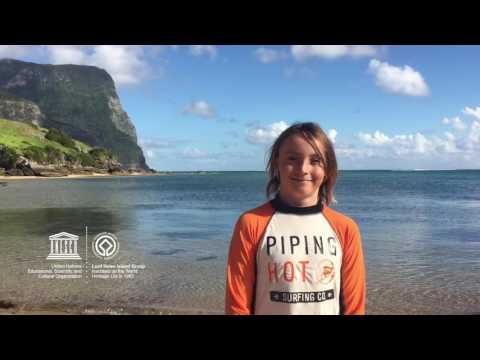 Hamish #MyOceanPledge Lord Howe Island Group World Heritage marine site