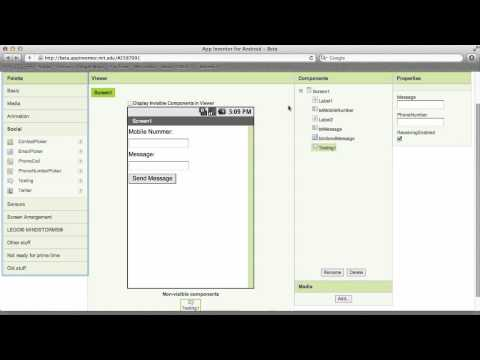 App Inventor Tutorial Send Sms