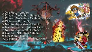 Kumpulan Lagu Anime Terbaik One Piece Naruto Kimetsu No Yaiba Digimon