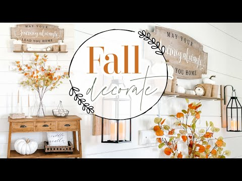 🍂 FALL 2021 DECORATE WITH ME🍂   SIMPLE FALL HOME DECOR   FALL DECORATING IDEAS