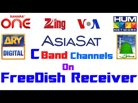 AsiaSat7 @105°E | C Band Free Channels !! In Small Dish | On FreeDish Receiver