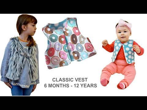 HOW TO SEW A CLASSIC VEST - TODDLER, TEEN, PRE-TEEN, COOL SHAGGY VEST