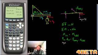 Natuurkunde   Statica   VLS   Simpel doorrekenvoorbeeld