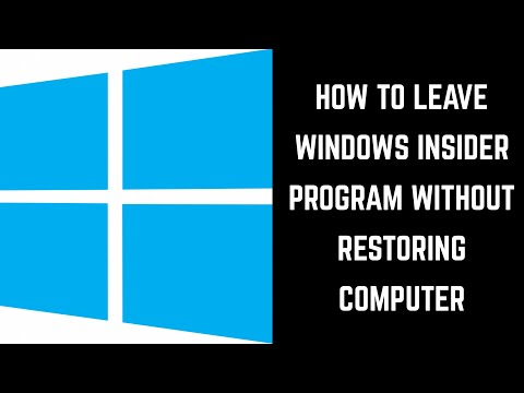How to Leave Windows Insider Program Without Restoring Computer