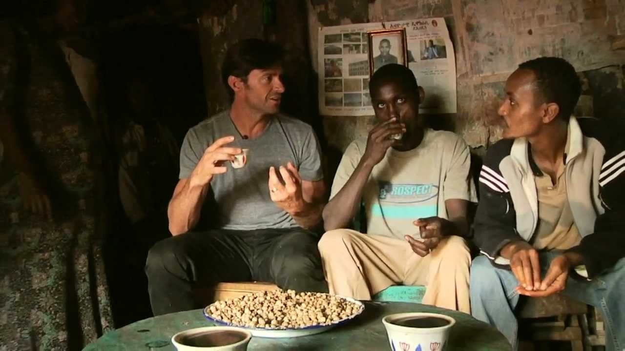 Hugh Jackman Finds Inspiration With Ethiopian Coffee Farmers Launches Charity Brand Laughing Man