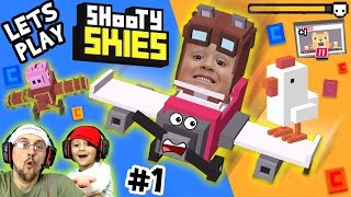 Lets Play SHOOTY SKIES! Crossy Road w/ Guns, Planes & Boss Battles?  AWESOME!!  (FGTEEV #1 Gameplay)