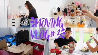 unpacking my makeup collection   glam room organisation moving vlog 3