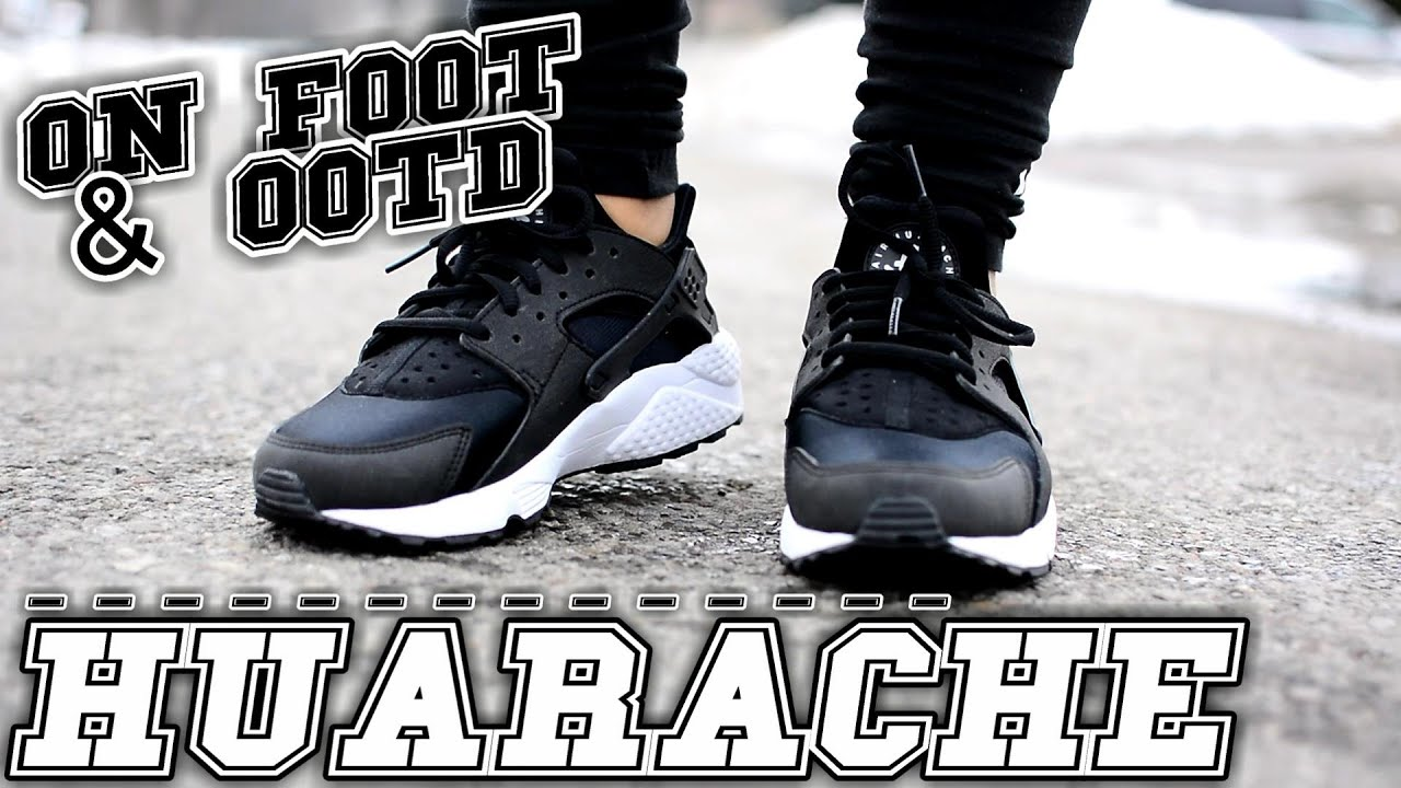ec72dcf2dfb9 Nike Air Huarache On Foot   Inspired Outfit - YouTube