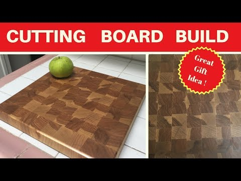 how to make a end grain cutting board - woodworking - diy - scrap wood project