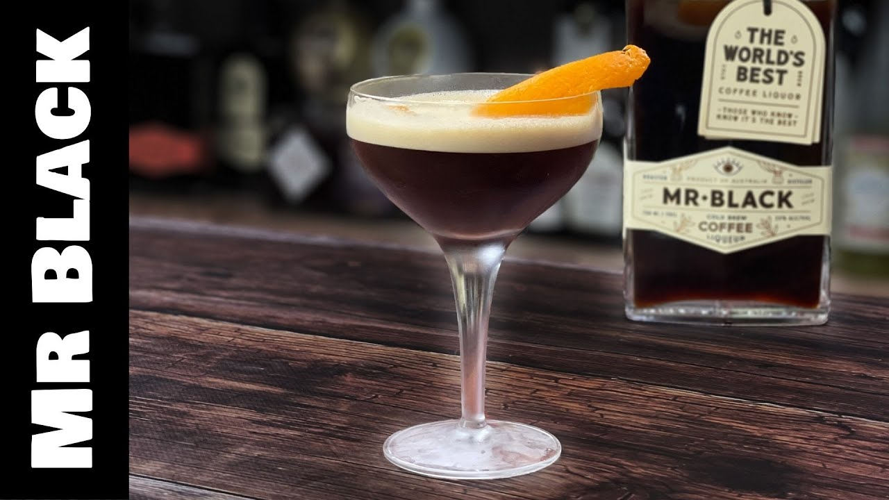 Mr Black Coffee Cocktails - Blood Orange Espresso Martini