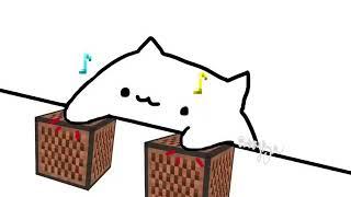 Bongo cat Minecraft note blocks meme