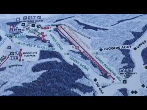 Wintergreen Resort Virginia Ski Trails Map - YouTube on