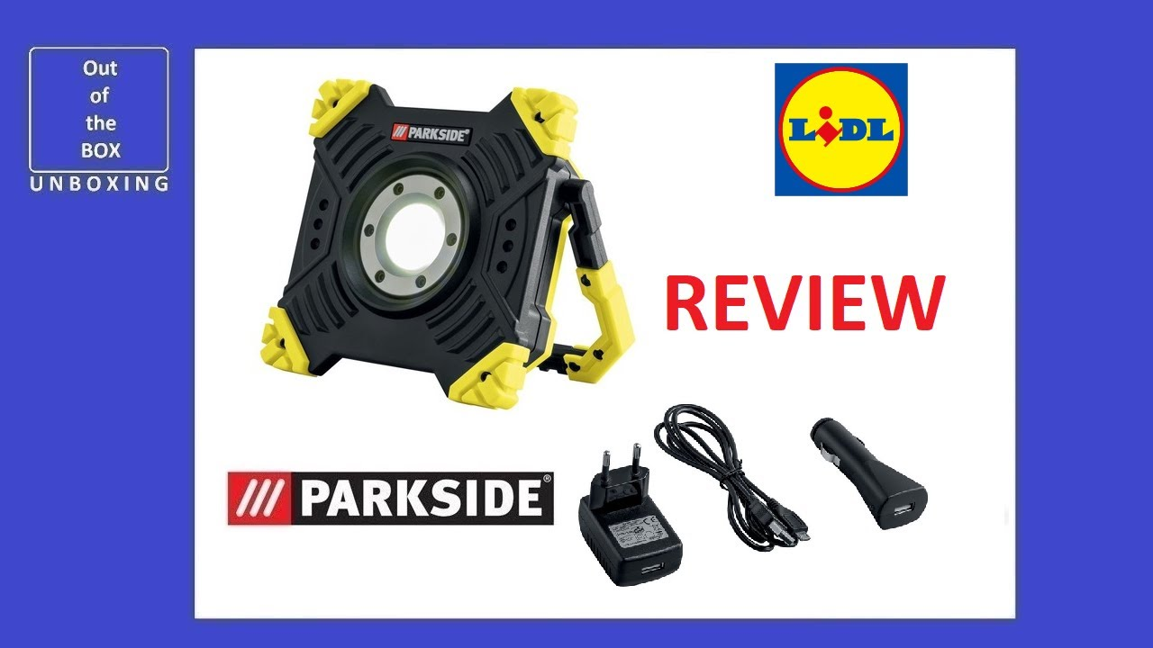 Parkside Rechargeable Work Light Paas A2 Review Test Lidl 6000mah 3 7v Led 12v Youtube
