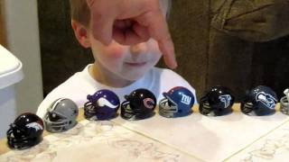2 Year Old Can Name All The NFL Teams!