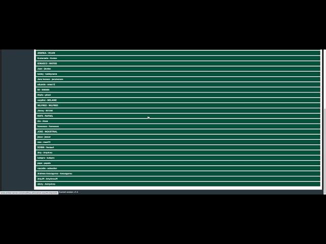 ERMES - Dashboard menu -