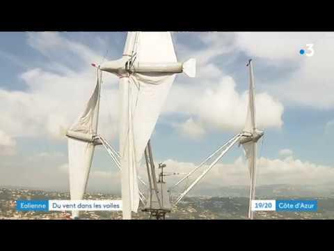 Un Niçois invente une éolienne à voile - - France 3 Provence-Alpes-Côte d'Azur