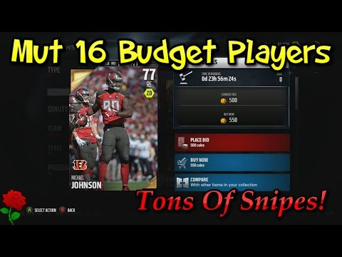 Madden Ultimate Team 16 Budget Players! Tons of Sleepers and Value Players!