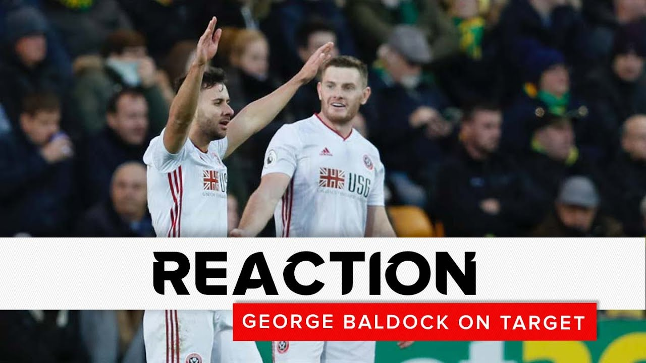George Baldock on target | Norwich City v Sheffield United | Reaction interview