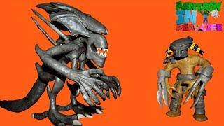 Aliens vs Predator 3 - Predator vs Alien Queen - Play doh stop motion movie