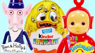 surprise egg ben hollys wise old elf po teletubbies halloween toy how to draw