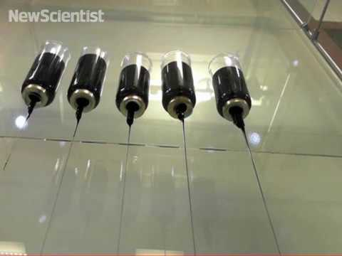 Pitch drop tests divide between solid and liquid