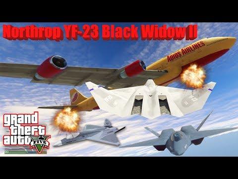 GTA V: Northrop/McDonnell Douglas YF-23 Black Widow II Plane Best Extreme Longer Crash Compilation