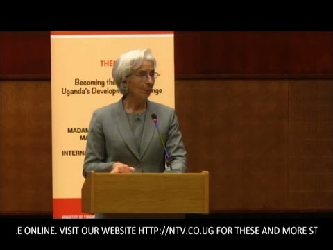 IMF Managing Director Christine Lagarde gives public lecture in Kampala 27/01/2017
