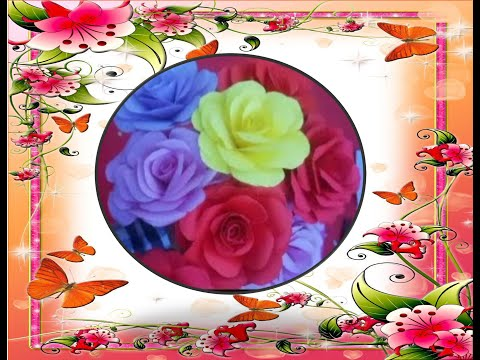 How to Make Small Rose Flower with Paper Making Paper Flowers Step by Step
