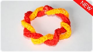 Красивый и простой браслет из резинок на рогатке Rainbow Loom