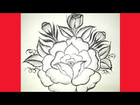 How To Draw Rose Flower Bedsheet Table Pillow Cushion Cover Design Painting And Applic Work Design Youtube