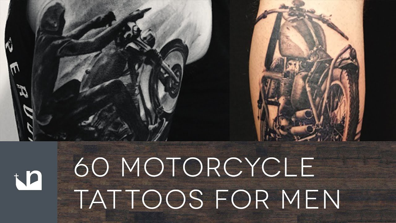 60 Motorcycle Tattoos For Men  YouTube