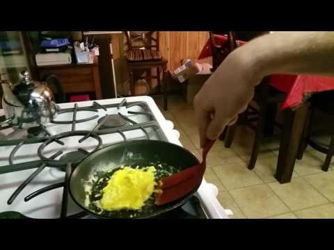 Super Simple Breakfast Recipe: Eggs Hummus Toast