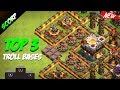 Clash Of Clans TOP 3 TH11 TOWN HALL 11 Troll Base Trophy Bases Legend League 2017