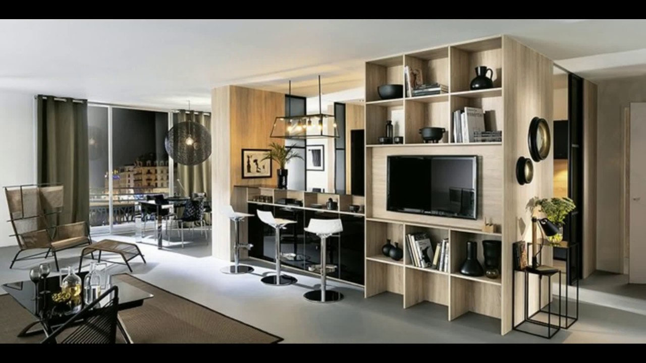 meuble pour separer cuisine salon youtube. Black Bedroom Furniture Sets. Home Design Ideas