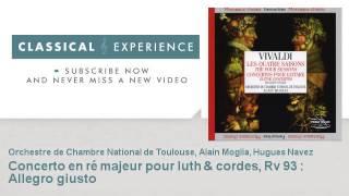 Antonio vivaldi : Concerto en ré majeur pour luth & cordes, Rv 93 : Allegro giusto