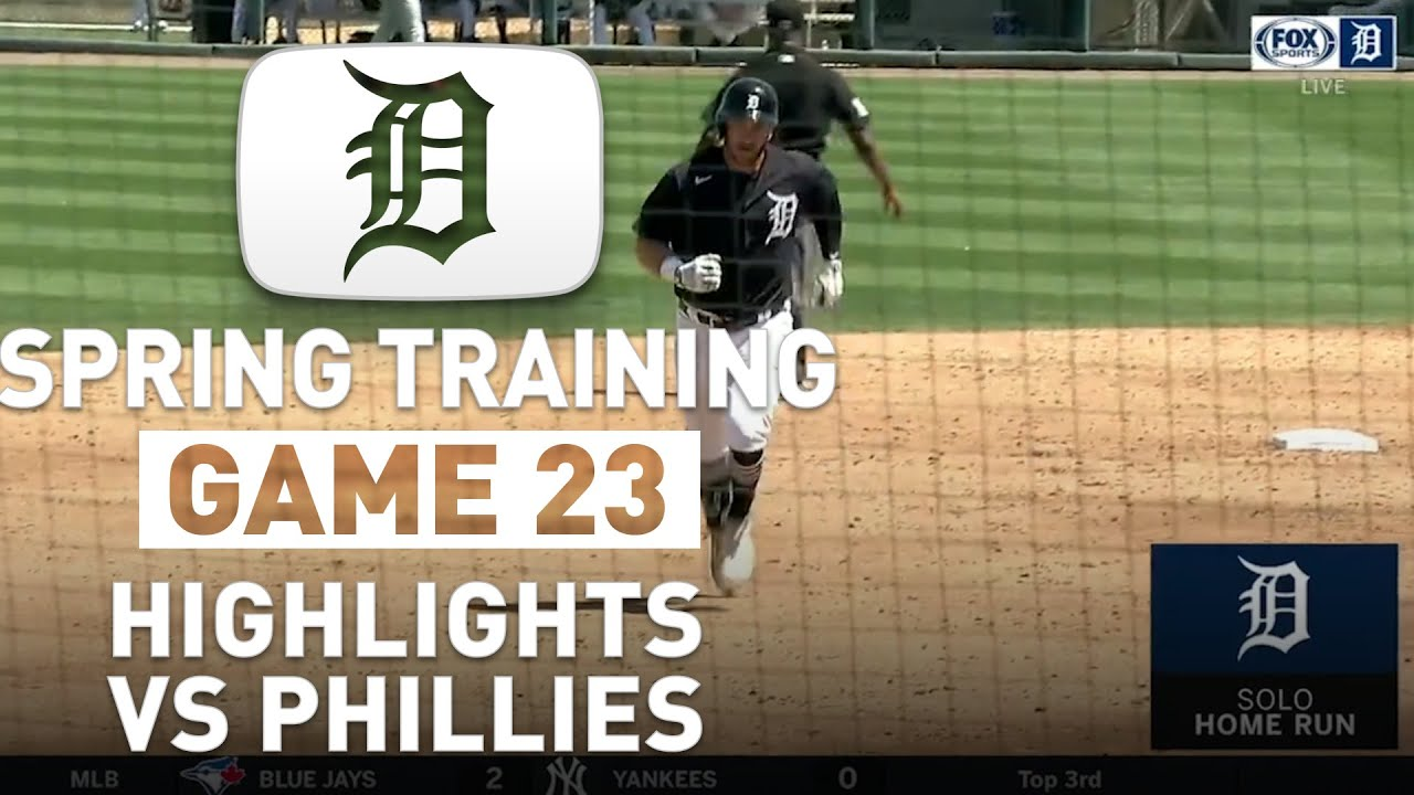 Detroit Tigers Spring Training Highlights Game 23 vs Phillies