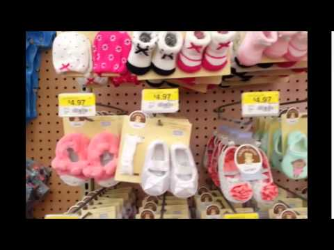 Showcasing Baby Clothes At Walmart And Incontinence Pads