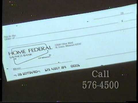 1990s Home Federal Savings Bank commercial St. Louis