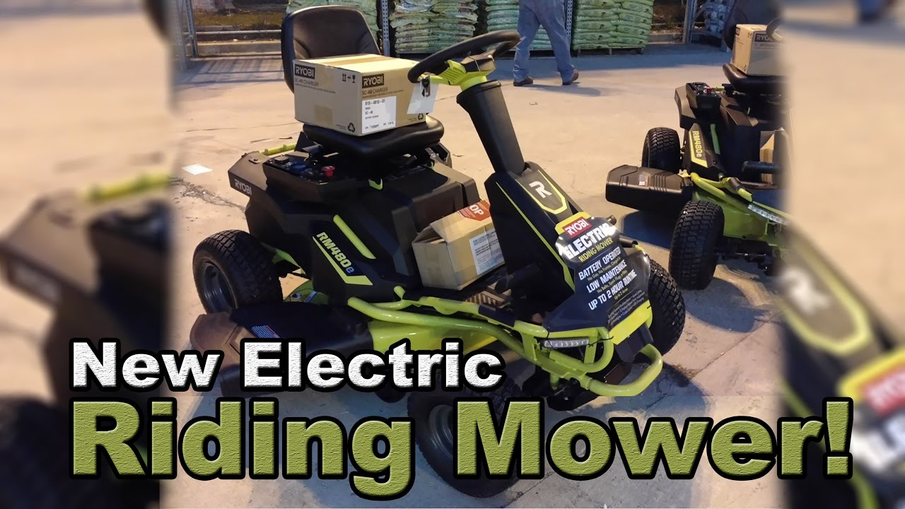 new electric riding mower at home depotryobi discovered!
