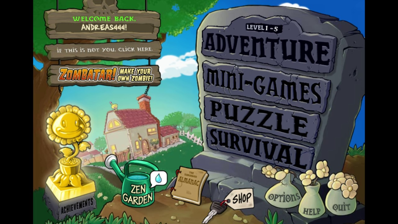 Steam 커뮤니티 :: 비디오 :: Plants VS Zombies Main menu song