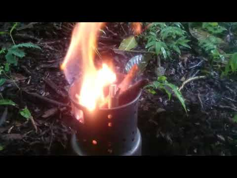 Testing DIY Wood stove for Bushcraft