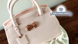 One of Zoes Fancy Cakes's most viewed videos: Handbag cake tutorial