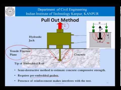 Mod 01 Lec 34 Basic Non Destructive Testing For Concrete
