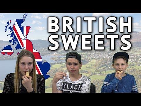 German Kids try British Sweets