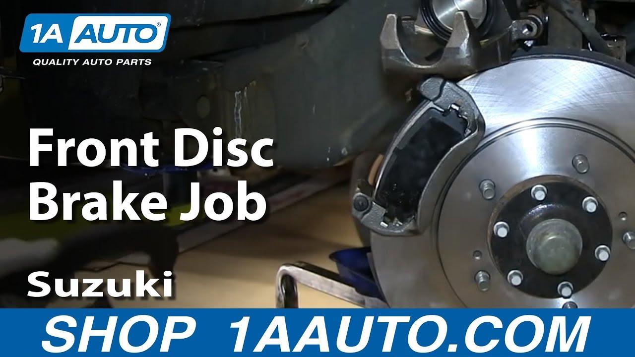 How to Replace Front Brakes 0204 Suzuki XL7  YouTube