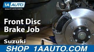 How To Service Do a Front Disc Brake Job 2001-06 Suzuki XL-7
