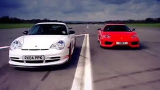 Porsche GT3 v Ferrari Car Review - Top Gear - BBC